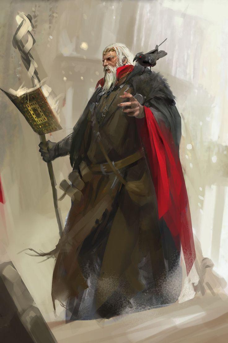 Wizard by QIAN LI qian li odin fantasy art wizard