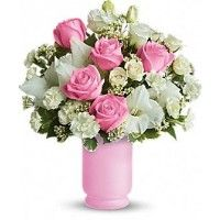 Houston Tx Florists - Send a gift of fresh pink, blue or mixed color flowers to congratulate the parents on the arrival of their newborn.