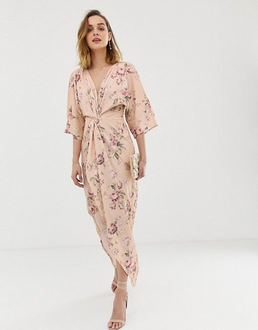 7e2f0bbf2 Hope & Ivy | Hope & Ivy knot front maxi dress with in multi floral
