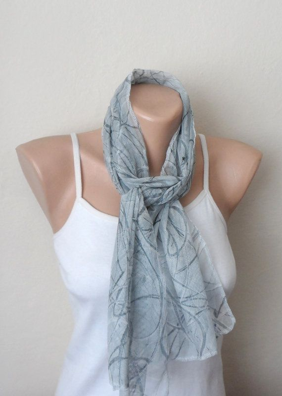 gray scarf tulle fabric woman scarf fashion accessories trendy