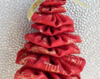 Or Notes de musique sur fond rouge Yo Yo Jingle Bell sapin de Noël