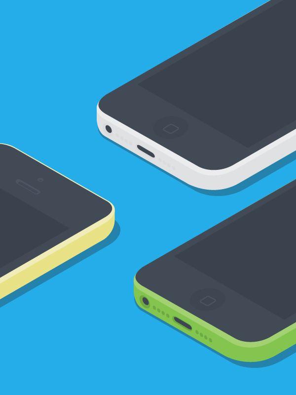 Flat Apple Devices Mockups FREEBIE