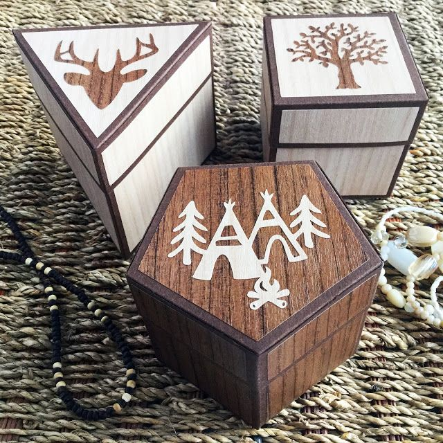 Rustic Wood Effect Gift Boxes Made With Silhouette Wood Effect Vinyl Designer Janet Packer Crafting Quine Wooden Boxes Wooden Gift Boxes Wood Pallet Projects