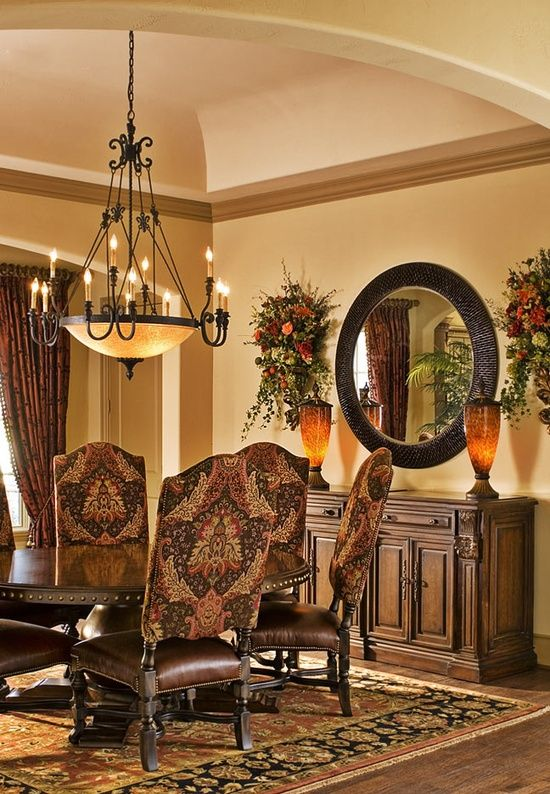 30 best tuscan images on pinterest haciendas interior for Tuscan dining room