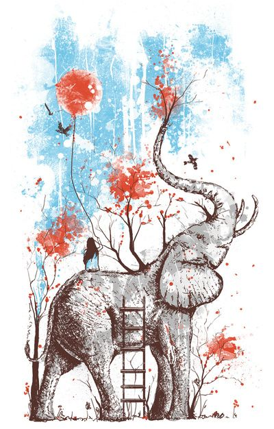 "A Happy Place  by Norman Duenas  Art Print / MINI (7"" x 10"")    $20.00"