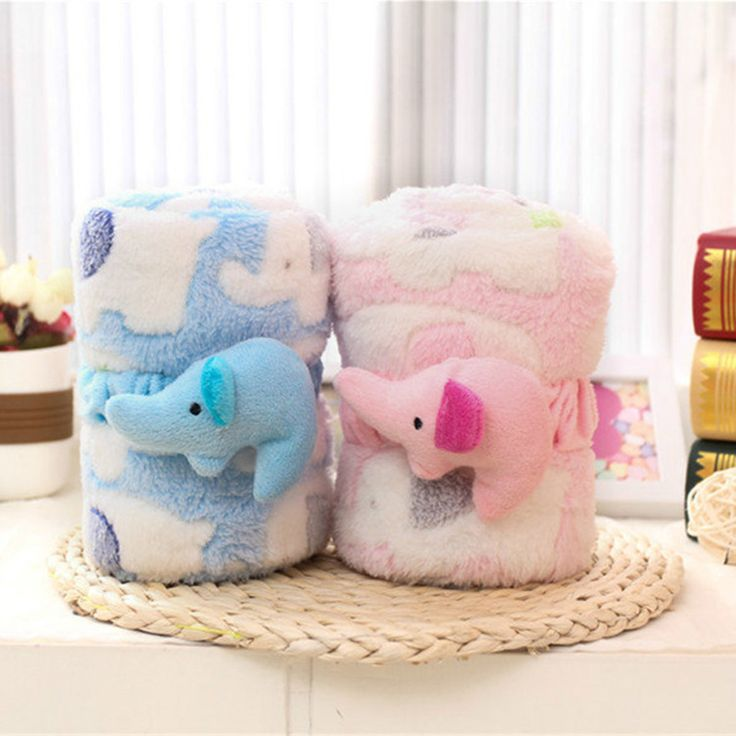 Новорожденный коралловый флис пеленание обертывания 3D мультфильм слон печати мягкие детские одеяла Cobertor Bebe полотенце 95*80 см AB049
