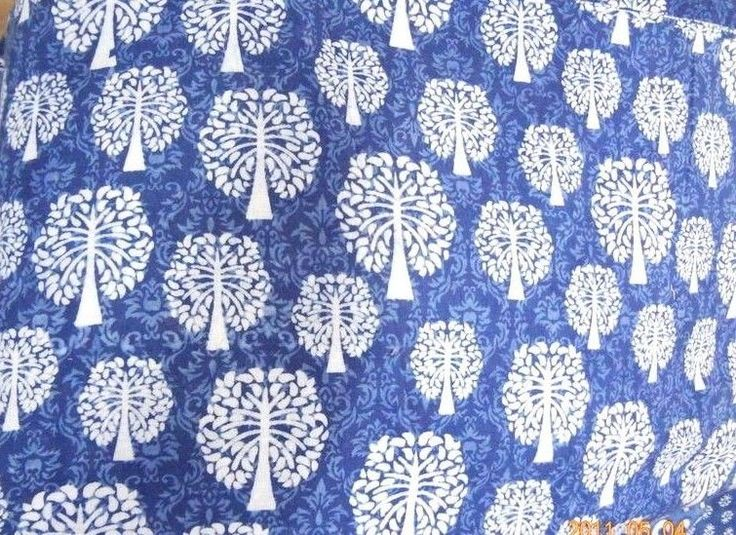 10 yard SHIBHORI Indigo Blue Dyed hand printed Cotton dabu Print Tie Dye Fabric #KhushiHandicraft