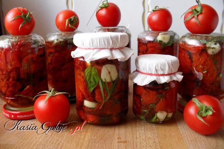 Dried tomatoes, oregano, thyme, rosemary and basil    Suszone pomidory z rozmarynem tymiankiem oregano i bazylia     - Kasia is Cooking Blog - recipe after click on photo
