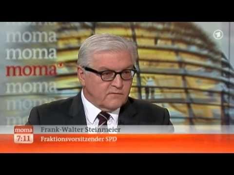 Frank-Walter Steinmeier (SPD) und Christiane Meier (ARD) zu Zypern und der Hilfe durch Russland