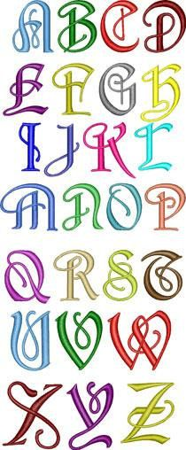 Apex Embroidery:   Enchanted Font. $9.99, via Etsy.