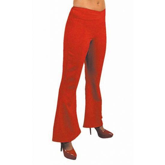Jaren 60 dames broek rood  Dames hippie broek rood. Hippie broek in de kleur rood voor dames. Deze rode hippie dames broeken heeft wijd uitlopende pijpen en zijn verkrijgbaar in diverse maten. Naast hippie broeken hebben wij ook in ons assortiment complete hippie kostuums.  EUR 24.95  Meer informatie