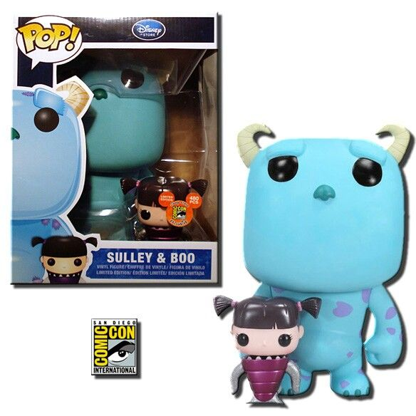 "9"" Sulley and Regular Boo - Monsters Inc. - Comic Con Exclusive - Funko Pop! Vinyl Figures"