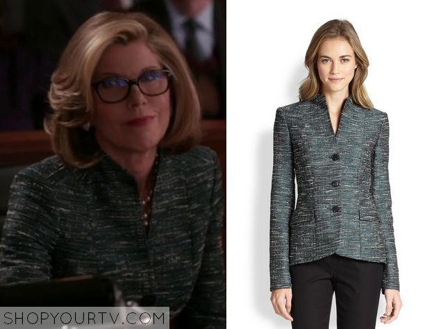 The Good Wife: Season 6 Episode 15 Diane's Blue Tweed Jacket