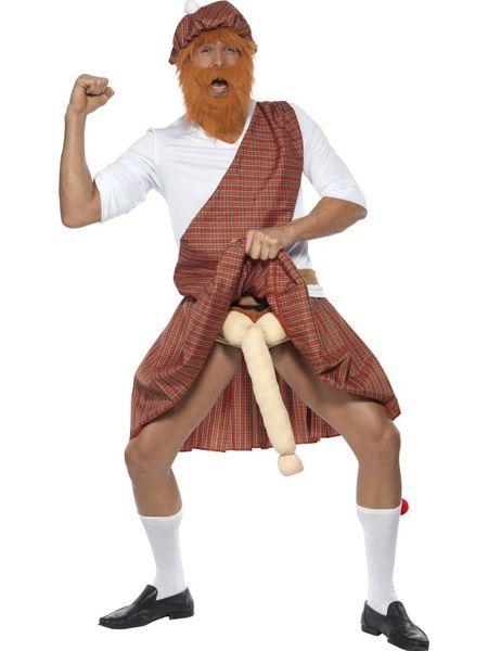 Naamiaisasu; Herra Skotti. Herra Skotin naamiaisasu on laaja kokonaisuus, jossa on kaikki skotlantilaisen perinneasun elementit. Naamiaisasu sisältää: - Hatun parralla ja hiuksilla - Paidan - Vyön - Kiltin - Vyötäröpussukan - Sukat - Roikkuvan vehkeen