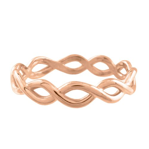 14KR LOOSE WEAVE RING  14 karat rose gold Loose Weave ring has a high polish finish. This rose gold ring is a size 6.25. (R683)   Each Penwarden Jewellery design is carefully handcrafted in our Toronto studio.
