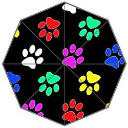 Dog Paw Background Triple Folding Rain Umbrella/Parasol/Sun Umbrellas