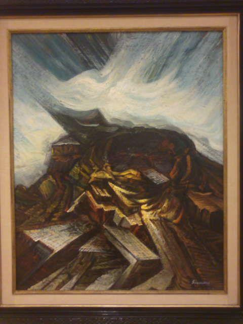 David Alfairo siqueiros URBANISMO. óleo sobre madera