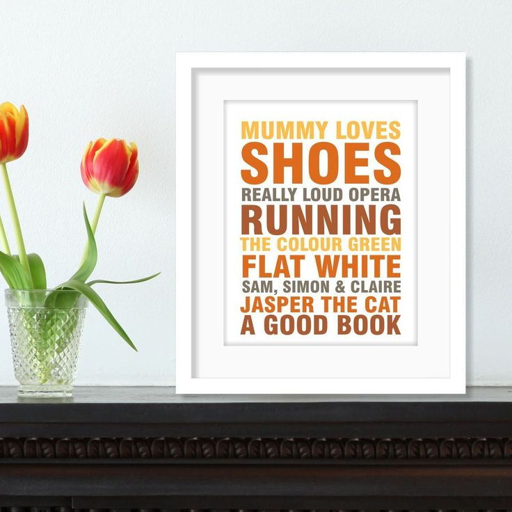 Say It With Words - Mum loves   personalised busroll print   various colours, $54.00 (http://www.sayitwithwords.com.au/mum-loves-personalised-busroll-print-various-colours/)