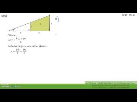 Matematik 5000 Ma 2b   Kapitel 3   Några bevis med likformighet   3257