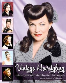 Step-by-step instructions for re-creating vintage hairstyles.: Retro Styles, Vintage Hairstyles, Vintagehair, Vintage Wardrobe, Book, Girls Hairstyles, Hair Style, Pin Up, Retro Hairstyles