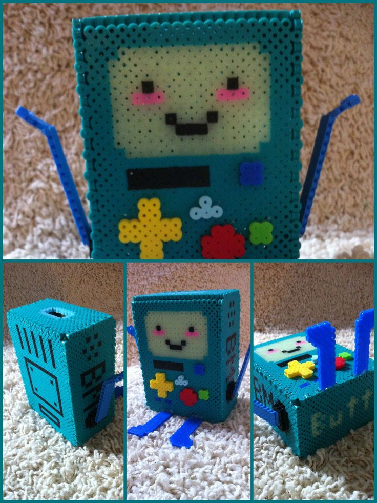 3D BMO perler beads