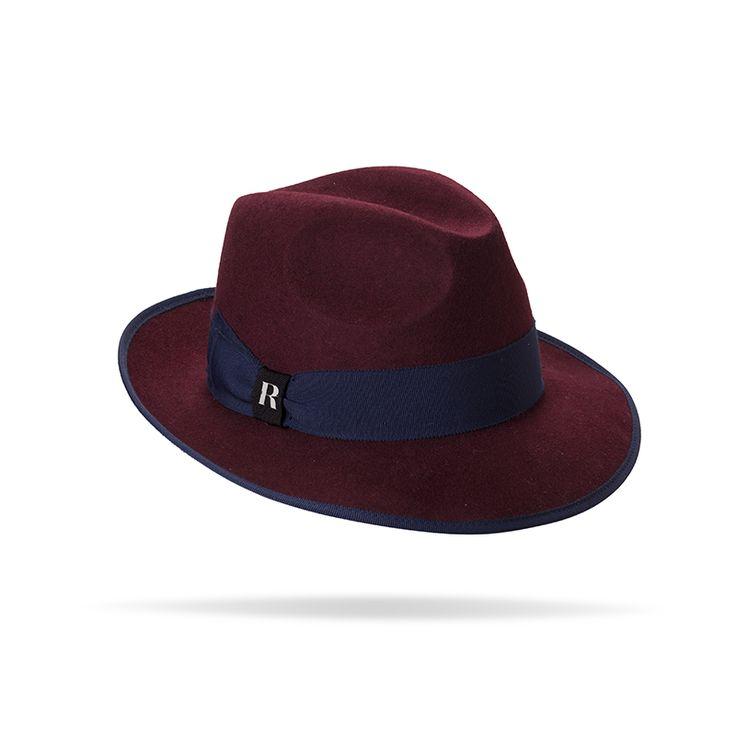 """Sysley"" hat in Burgundy"