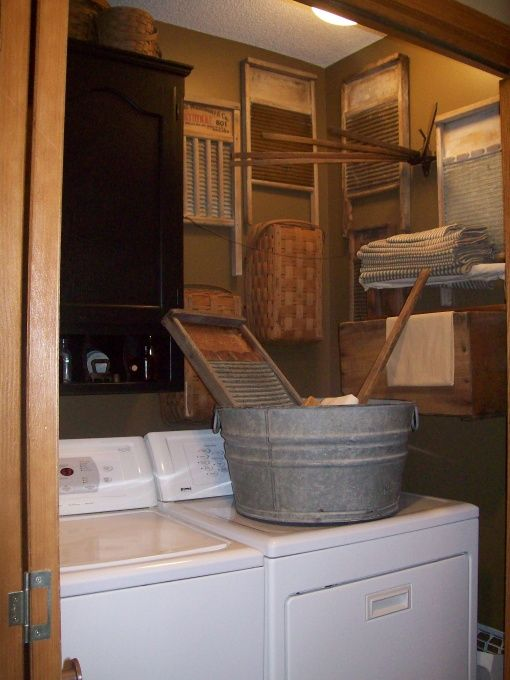 Laundry Room Cabinet With Hanging Bar