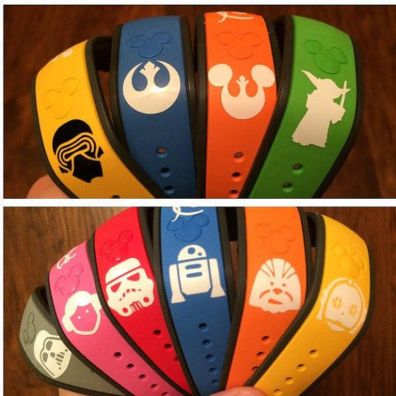 Celebrate the force with these fun star wars magic band decals listing is for one