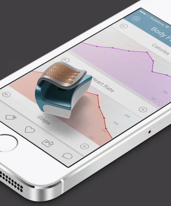 Bejeweled Biometrics - Easily paired with smart devices, FLIP acts as a pedometer, heart rate monitor, sleep analyzer and more, providing real-time bio-data expressed in a simplified, user-friendly app.