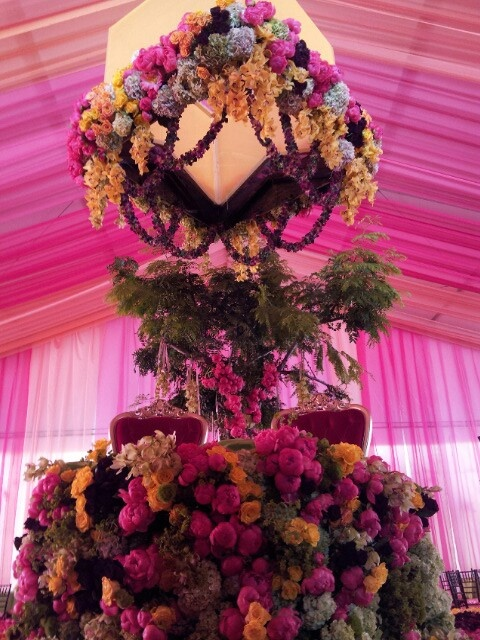 A floral extravaganza! Courtesy of Kismet Events