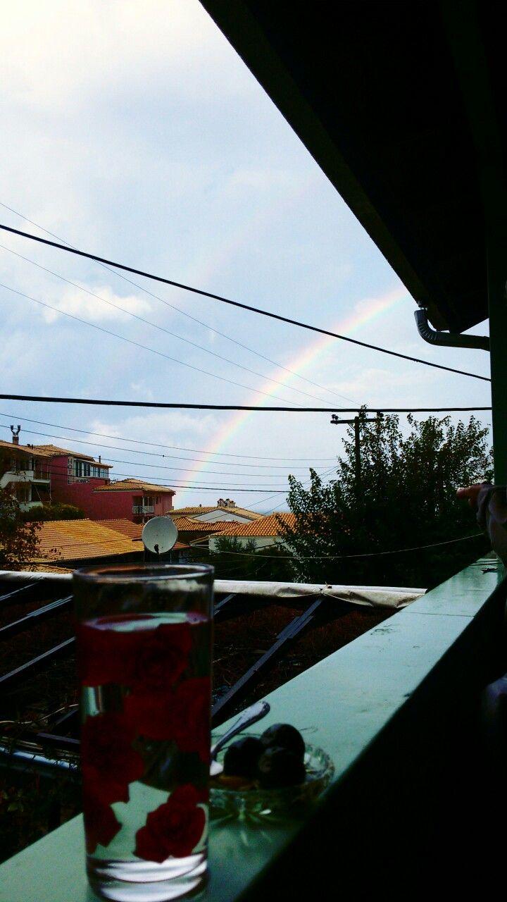 Arc en ciel in St Nikitas,  #Lefkada island. Raibows were never boring ♥