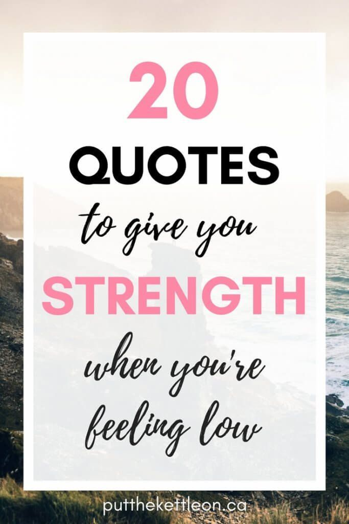 Feeling Low Quotes