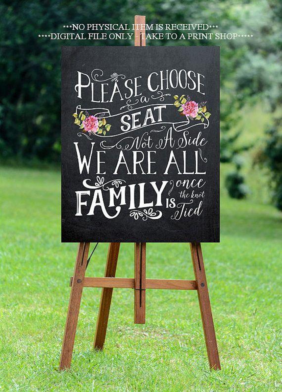 chalkboard wedding sign printable wedding sign pick a seat