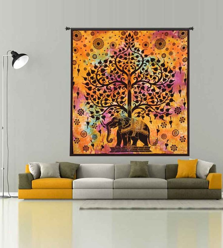 Shop beautiful elephant wall tapestry online on handicrunch. Visit here - https://www.handicrunch.com/en/wall-hangings-and-tapestry/animal-wall-tapestry.html