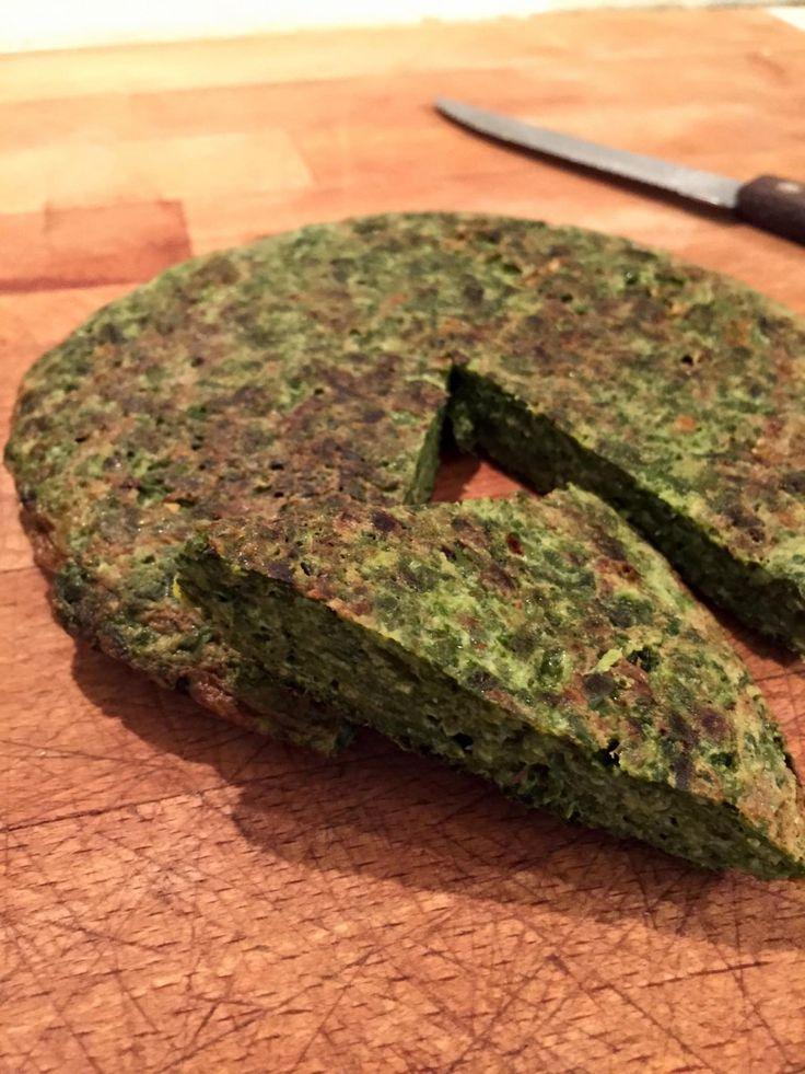 Tortilla de espinacas, receta baja en calorías y llena de vitaminas