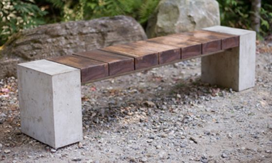 9 Best Images About Wood And Concrete Bench On Pinterest Ikea Hacks Water Features And Design