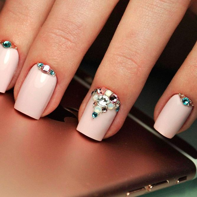 Awesome Design Ideas for Short Square Nails ★ See more: https://naildesignsjournal.com/short-square-nails-design/ #nails