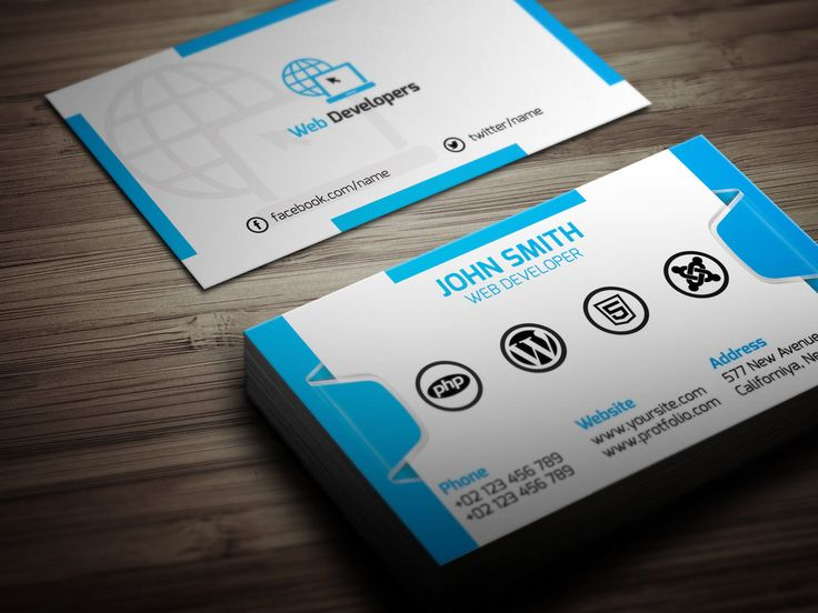 7 best business card web agency images on pinterest business cards web developer business card by muslimuddin reheart Image collections