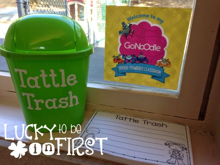 "Tattle Trash - get your kids to write down their tattles! They practice writing and then ""throw"" the problem away! FREEBIE included!"