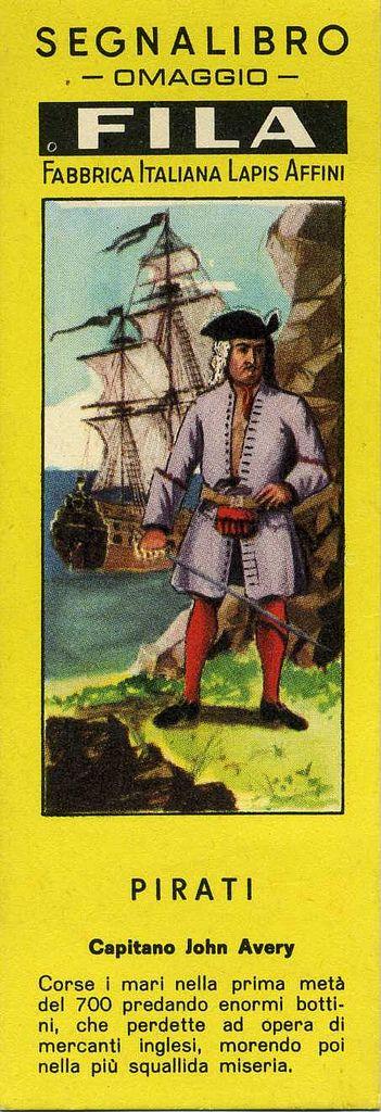 Segnalibri Fila Giotto  Anni '40/'50 Serie Pirati by Mario Algozzino  Bookmarks