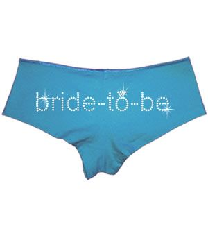 Personalized Bride-to-be Rhinestone Boyshorts (Back)