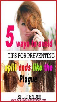 5 ways to avoid split ends like the #plague #beautymakeup #beautyhacks #skincare…