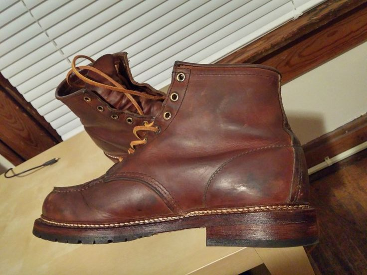 "Put ""Beckman"" sole on Redwing 1907 boots at redwing store."