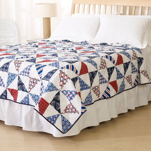 Shore Thing Print Quilt - Twin  OMG, this would be so cute in a little guys bedroom...I love the colors.