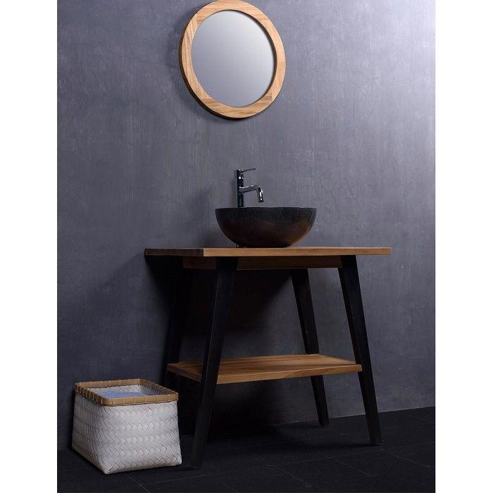 ensemble de salle de bain en bois de teck gardenandco chez la redoute - Ensemble Salle De Bain Teck