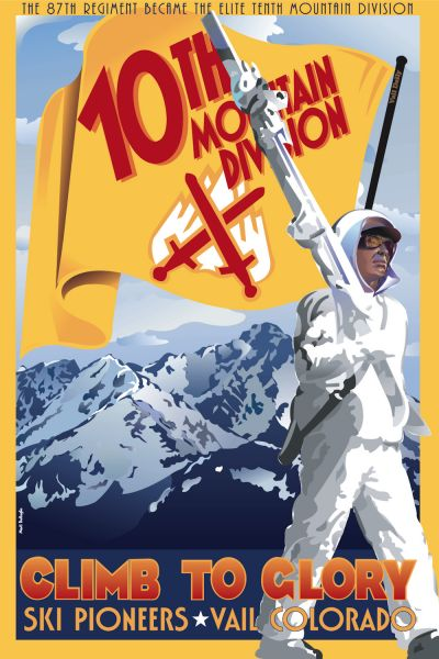It was American GIs from the 10th Mountain Division who first developed Vail ski resort after the war.Commentary by Steve .... former Swiss Ski Guide in the Canton of Valais,and resident of Steamboat Springs in Colorado.