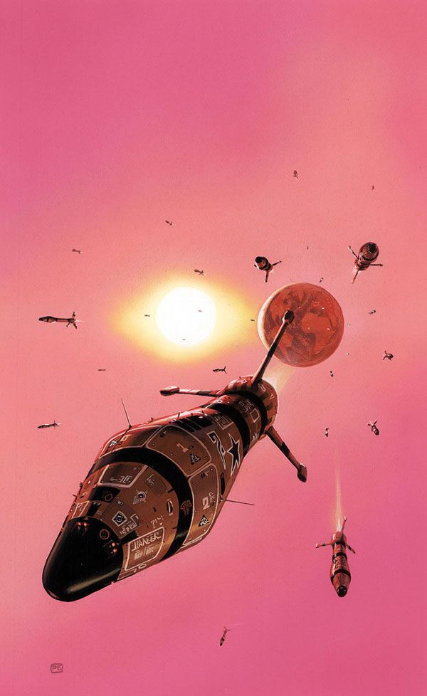 Apparently, I'm not the only one who loves using pink in sci-fi art. --Pia (Peter Elson (1947-98))