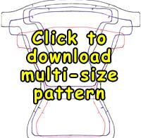 (personal use only) multi-size pattern for cloth nappy by Ms. A. Tuttle