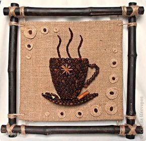 Ablakom: Kávés dekoráció