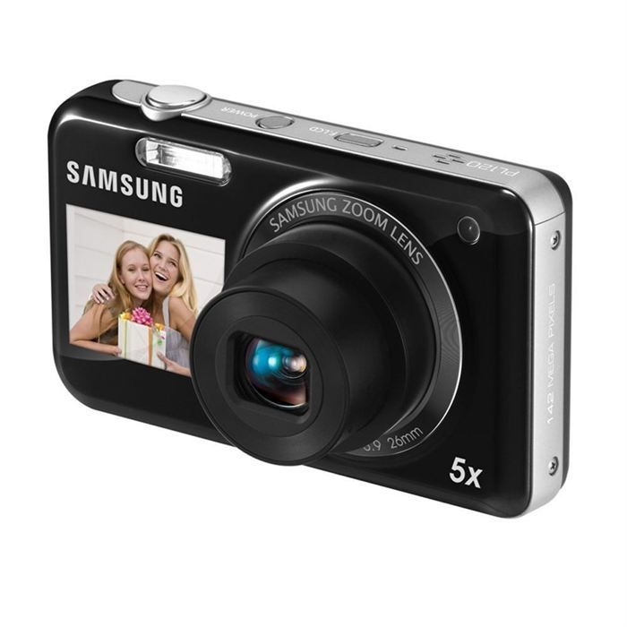 Appareil photo numérique SAMSUNG PL120 prix promo Cdiscount 78,90 € TTC: 5X Optical, Optical Zoom, Hd Movie, 14Mp Dualview, Samsung Pl120, Dualview Pl120, Dualview Black, Samsung Dualview, Digital Camera